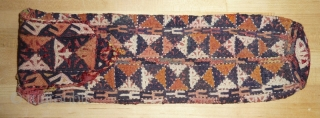 Yomud scissor or spindle bag embroidered in wool.  Circa 1900 natural dyes and in excellent condition