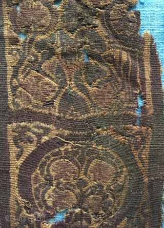 Coptic tapestry weave fragment from Egypt, ca.6th century.