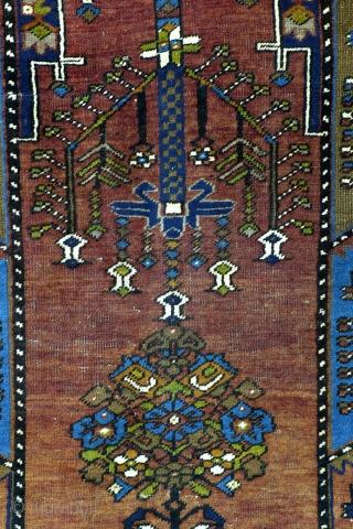Yahyahli, prayer rug, Anatolia, early 20th century.  Great colors! Nice abrash. Wool on wool, warp white wool.  230 x 128 cm. 7.6 ft. x 4.2 ft.