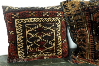 Bags/pillows. Ersari and Beloudj. 60 x 43 cm- 30 x 36 cm. 