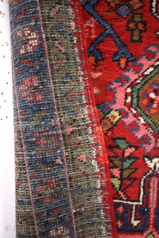 Heriz Karadja runner , 50-ies. 325 cm's long ( 10.8feet) wide 83 Cm's  2.7 feet.  Wool on cotton. even and high pile, never thin, headings and borders intact.
