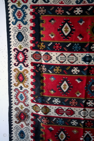 SARKOY kilim, Balkan, early 20th century. 