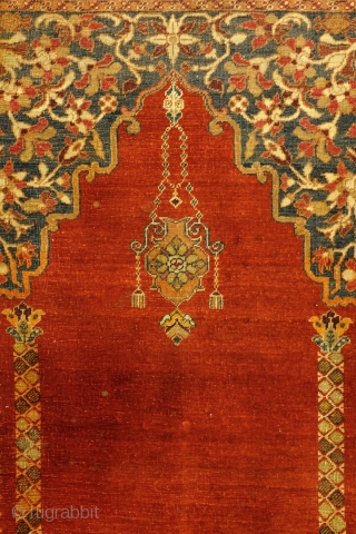 Antique Turkish prayer rug, Hereke, 188 x 126 Cm. 