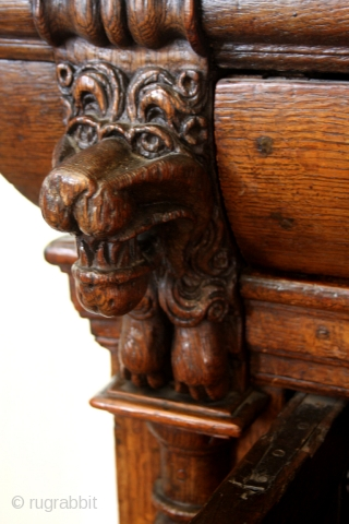 Dutch 1st half 17th century Kussenkast.  Oak. High 154 Cm's. - 5 feet 5 inch.  Ask for details  Sold to a Miami resident.