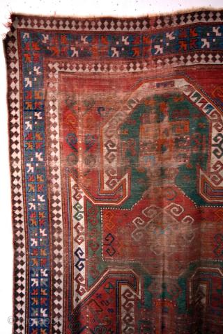 1880 Shild Kazak. 232 x 160 Cms.  Fading away in time.