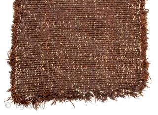 "TC 20 -Warp-faced Back Carpet:  35"" x  62"" Tibet - 19th C. Wool pile Khaden with yungdrung (swastika) design"
