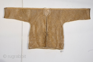 19th century cut bamboo thermal undergarment China.  Wonderful patina - collected in early 1990's by Professor of Textile Arts  UC Davis.  wonderful example. Excellent condition  53 x 25 inches   ...