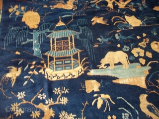 """#6888 Antique Peking Chinese Rug  This Peking Chinese rug measures 12'0"""" x 14'5"""" (371 x 441 cm).   This is the greatest Chinese of its type that I have EVER seen.  ..."""