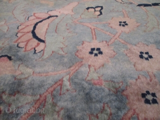 """Antique India Pashmina Oriental Rug 2'0"""" x 3'0"""" #7943 This mid-19th century India Pashmina rug measures 2'0"""" x 3'0"""". It has a very soft, silky , shimmery Pashmina wool in a beautiful light  ..."""