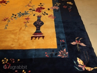 #7541 Antique Art Deco Chinese Rug