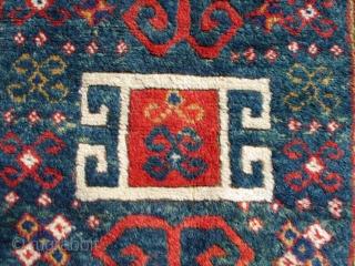 "#5625 Borchalou Kazak Antique Caucasian Rug  This antique Caucasian Borchalou Kazak rug measures 5'4"" X 7"". It is a nice big Kazak and the only prayer Borchalou I have ever seen. The  ..."