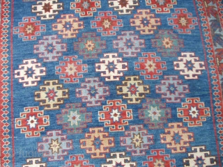 #6471 Kuba Antique Caucasian Rug 