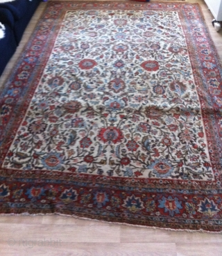 old Persian Qom 320 x 204 cm, a very elegant rug in good condition (100% natural dyes)