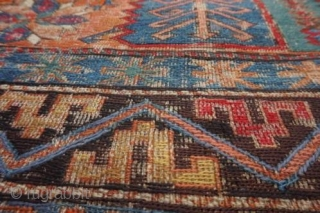 Soumak in need of restoration. A beautiful rug. Size: 260 x 350 cm