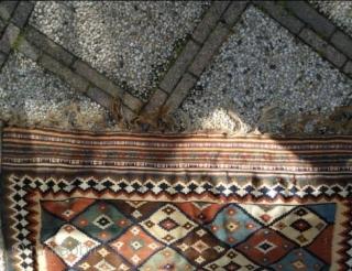 Qashqai kelim, 244 x 148 cm, in good condition, one small hole