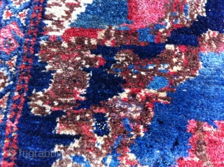 Senneh Rug Size: 63 x 98 cm, beautiful drawing and colors, in a good condition (a little moth damage)