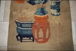 antique Chinese rug 150 x 78 cm,