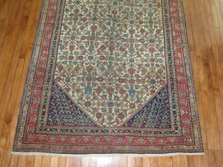 Antique Shiraz or Ghasghai Size 4'9''x8'.  Has been restored.