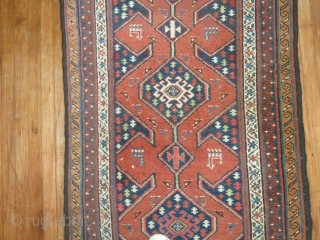 Antique NW rug.  3'2''x12'6'' good condition.  One old repair to the top end,