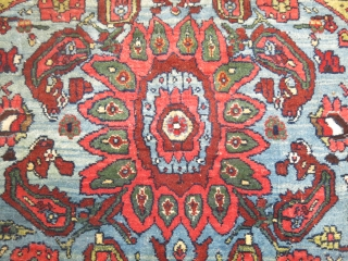 Antique Persian Bidjar Size 4'5''x6'8'',  Minor low areas.  No repairs.