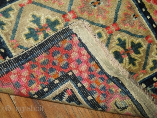 Antique Pair of Tibetan Mats.  Size 2'2''x2'3'' each.  As decorative and collectible as it gets.  Full pile mint condition each.