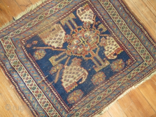 Antique Error Bagface.  Not sure if its Kurdish or Persian,  Love the errors on this weaving. OFF BALNCE DESIGN IN FIELD AND TOP LEFT BORDER..  NOT CUT! So artistic  ...
