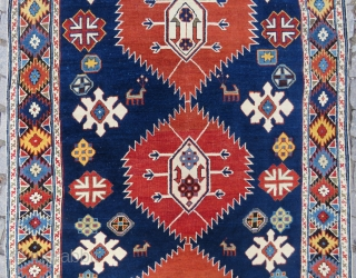 Caucassian Shirvan rug wonderful colors and very nice condition all original and size (47''x69'') 1,75x1,21 cm Circa 1900 #antiquerugs #antiquecarpets #antiquekilims #decorative #decoration #homedecoration #vintage #largecollection #silk #hereke #rareitems #luxurylifestyle #luxury   ...