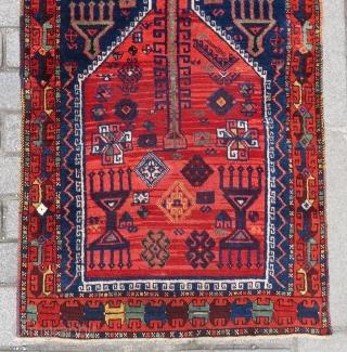 Antique Anatolian Kurdish prayer rug rug wpnderful colors and nice condition size 1,33x79 cm Circa 1880-1890