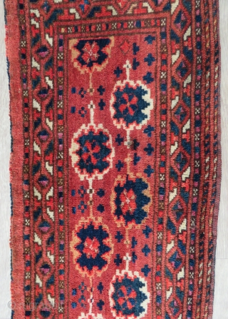 Turkoman (Kashiklik) Spoon bag with silk part knots , very nice colors, full pile and all original size 1,37x 38 cm Circa 1890