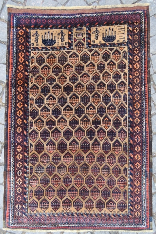 Antique Baluch rug wonderful colors and excellent condition all original size :1,23x0,83cm  Circa 1900-1910
