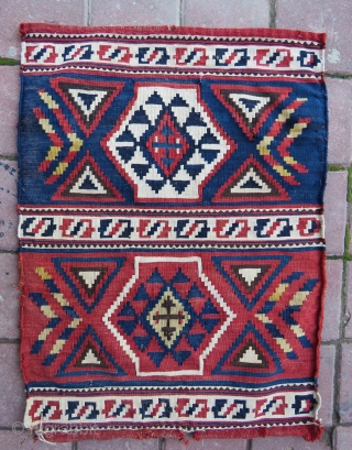 Antique shirvan baku aria panel (1) all vegetable colors and very nice condition it has some elittle  repair not much you can see on pictures and size 72x52 cm ( 28''  ...