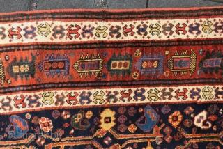 Antique Shiraz Khamseh wonderful colors and very good conditionm all original Circa 1890