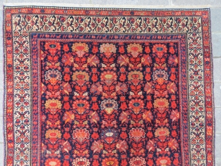 Malayer rug wonderful colors and very good condition all original  Side silk exhibited and size  1,91x1,28 cm Circa 1910-1915