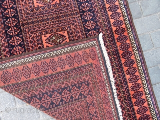 Baluch rug Designed with a chest very nice colors and excellent condition all original and very fine Circa 1915-1920