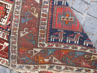Shahsawen runner very nice colors it has some repair Circa 1900-1910