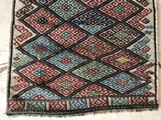 Caucasian Werne technique bag face, wonderful colours and excellent condition.