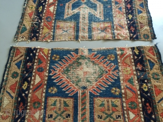 Antique Baghshayesh runner  Cut in two pieces 90x310cm