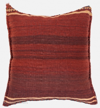 Qashqai bag/cushion, Circa 1900, Excellent condition, Not restored, High pile, Natural dyes, Size: 54 x 51 cm. (21 x 20 inch).