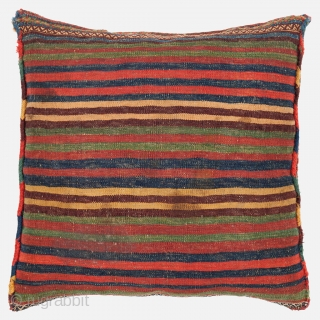Lori-Qashqai Cushion, Late 19th century, Very good condition with all natural colours, Not restored, Size: 49 x 49 cm. (19 x 19 inch).