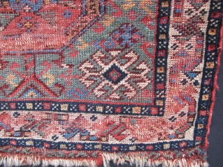 Gashgai bagface, second half 19th century, very good and early example of this type. Great colors. Parts of camel wool.