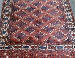 Yomud Haupt Teppich 260x160cm altersgemäßer Zustand.