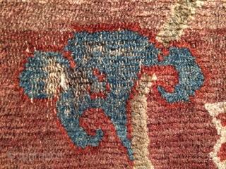 Very beautiful Tibetan lotus design fragmented Khaden. 170 x 86 cm.