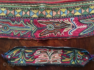 "Beautiful Lakai embroidery 24"" X 4 inches, small 9"" x 2"""