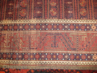 Fine baluch rug in mint condition, size 6 x 4 feet approximately.