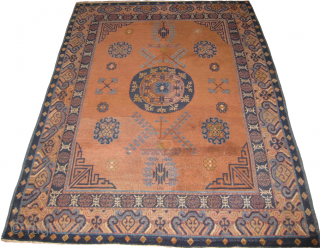 Khotan rug repaired measuring 6 x 4 feet.