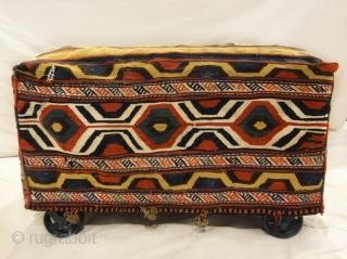 Caucasian Tribal Mafrash - Size: 17H x 17D x 38L