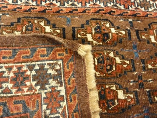 Antique Yomud Chuval Bagface from Turkestan