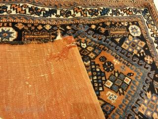 "Antique Afshar Bag Circa 1880 Perfect Condition 2'2"" x 2'6"""