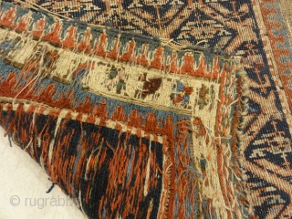 Antique Soumak Herati Rug