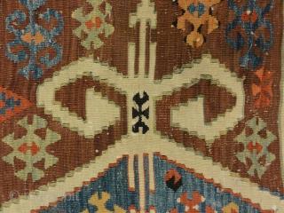 "Fine Turkish Anatolia kilim from Late 19th Century 3'2"" x 4'9"""